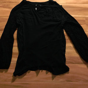 XCVI Black Long Sleeve V-Neck